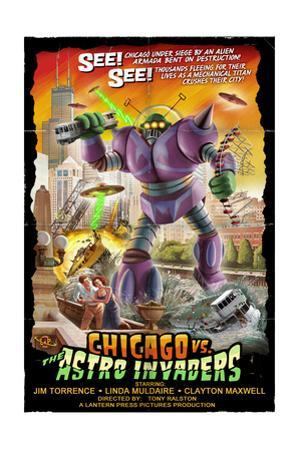 Chicago Versus Astro Invaders by Lantern Press