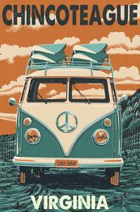 Chincoteague, Virginia - VW Van by Lantern Press