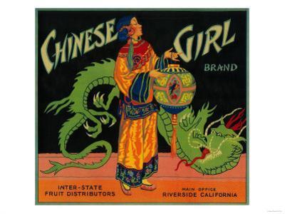 Chinese Girl Orange Label - Riverside, CA