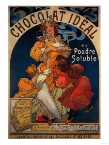 Chocolat Ideal Vintage Poster - Europe by Lantern Press