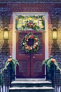Christmas Door by Lantern Press