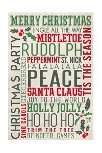 Christmas Typography by Lantern Press