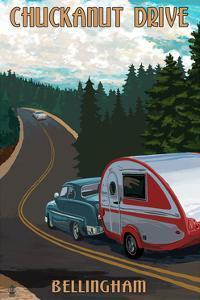 Chuckanut Drive - Bellingham, WA - Retro Camper by Lantern Press