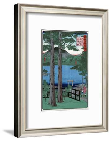 Chuzenji Lake in Shimozuke Province, Japanese Wood-Cut Print