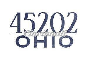 Cincinnati, Ohio - 45202 Zip Code (Blue) by Lantern Press