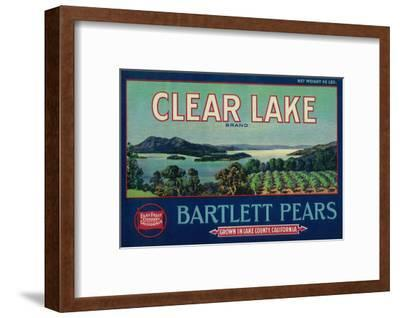 Clear Lake Pear Crate Label - Lake County, CA