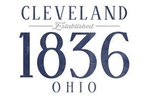 Cleveland, Ohio - Established Date (Blue) by Lantern Press