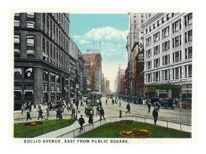 Cleveland, Ohio - Euclid Avenue East from Public Square by Lantern Press