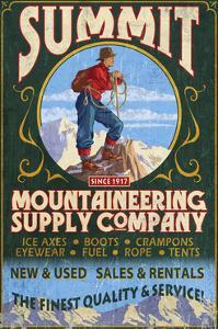 Climber Mountaineering - Vintage Sign by Lantern Press