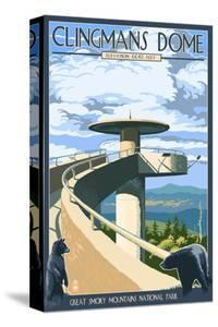 Clingmans Dome - Great Smoky Mountains National Park, TN by Lantern Press
