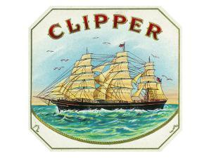 Clipper Brand Cigar Box Label, Nautical by Lantern Press