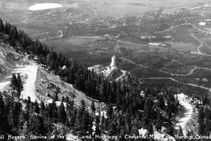 Colorado - Aerial View of Shrine of the Sun, Colorado Springs from Cheyenne Mt by Lantern Press