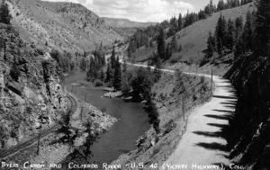 Colorado - Byers Canyon and Colorado River by Lantern Press