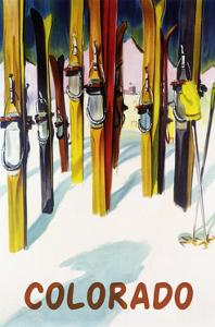 Colorado - Colorful Skis by Lantern Press