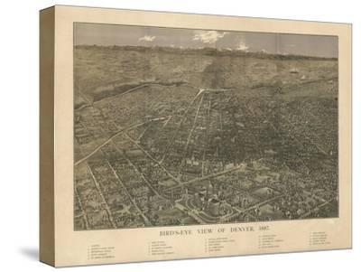 Colorado - Panoramic Map of Denver No. 2