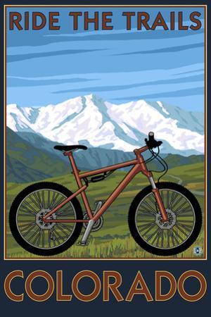 Colorado - Ride the Trails - Mountain Bike by Lantern Press