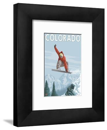Colorado, Snowboarder Jumping