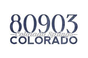 Colorado Springs, Colorado - 80903 Zip Code (Blue) by Lantern Press