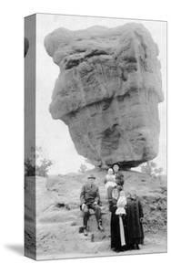 Colorado Springs, Colorado - Family Posing by Balanced Rock in Garden of Gods by Lantern Press