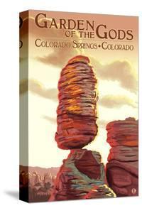 Colorado Springs, Colorado - Garden of the Gods, Balanced Rock by Lantern Press