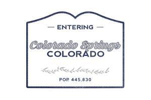 Colorado Springs, Colorado - Now Entering (Blue) by Lantern Press