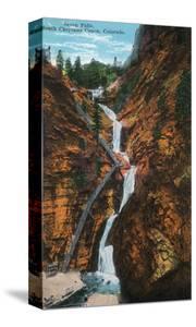 Colorado Springs, Colorado - South Cheyenne Canyon, Seven Falls View by Lantern Press