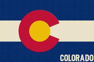 Colorado State Flag by Lantern Press
