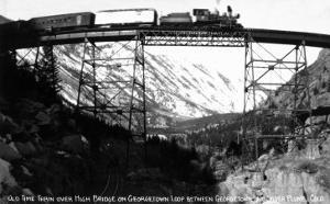 Colorado - Train on Georgetown Loop between Georgetown and Silver Plume by Lantern Press