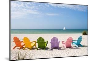 Colorful Beach Chairs by Lantern Press