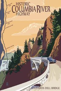 Columbia River Gorge, Oregon - Historic Columbia River Highway by Lantern Press
