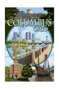 Columbus, Ohio - Montage Scenes by Lantern Press