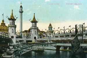 Coney Island, New York - Luna Park Scene by Lantern Press