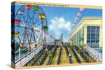 Coney Island, New York - Steeplechase Park View of the Ride
