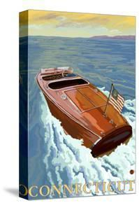 Connecticut, Chris Craft Boat by Lantern Press