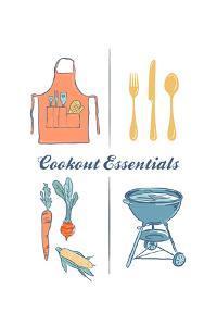 Cookout Essentials - Letterpress by Lantern Press