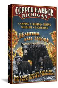 Copper Harbor, Michigan - Black Bears by Lantern Press