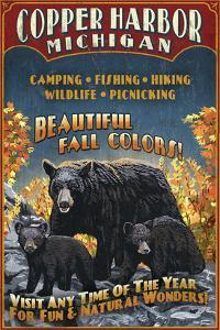 Copper Harbor, Michigan - Black Bears by Lantern Press