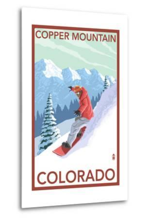 Copper Mountain, Colorado - Downhill Snowboarder