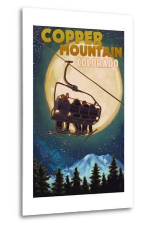 Copper Mountain, Colorado - Ski Lift and Full Moon
