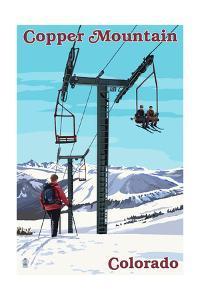 Copper Mountain, Colorado - Ski Lift Day Scene by Lantern Press