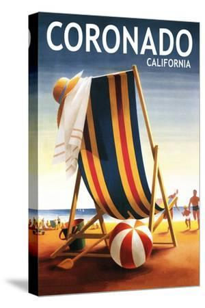 Coronado, California - Beach Chair and Ball