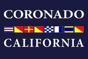 Coronado, California - Nautical Flags by Lantern Press