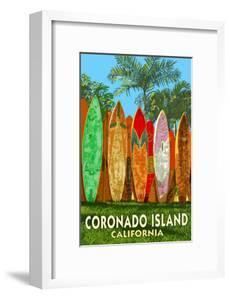 Coronado Island, California - Surfboard Fence by Lantern Press
