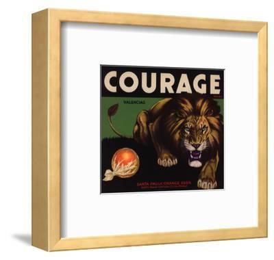Courage Brand - Santa Paula, California - Citrus Crate Label