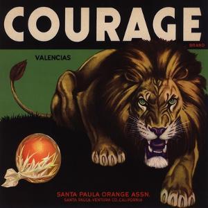 Courage Brand - Santa Paula, California - Citrus Crate Label by Lantern Press