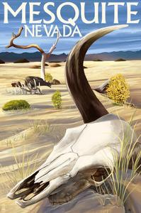 Cow Skull - Mesquite, Nevada by Lantern Press