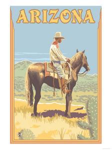 Cowboy - Arizona by Lantern Press