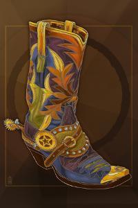 Cowboy Boot by Lantern Press