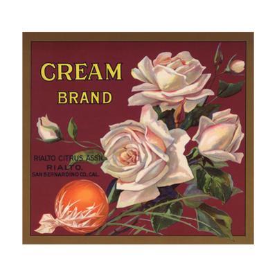 Cream Brand - Rialto, California - Citrus Crate Label