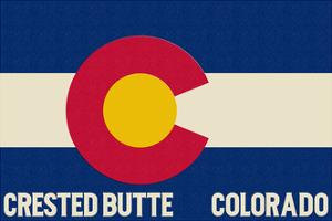 Crested Butte, Colorado - Colorado State Flag by Lantern Press